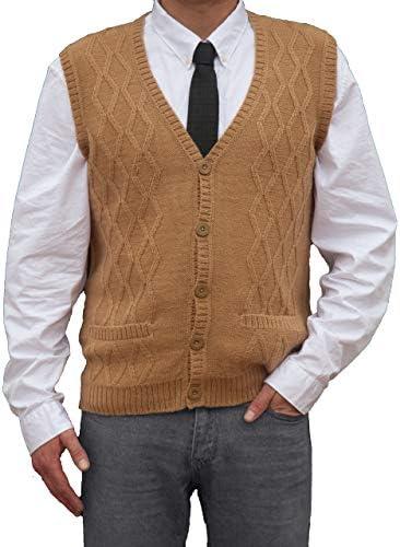 TINKUY PERU Peruvian Alpaca Wool Men´s Knitwear V Neck