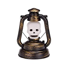 Halloween Lantern Skull 2 Pack,SIX-SEVEN Lamp Ghost Night Light LED with Horrible Voice Halloween Decoration kids Lamp