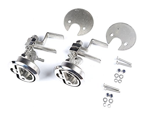 Mxeol Marine Cam Latch Boat Hatch with Fasteners Stainless Steel Pair