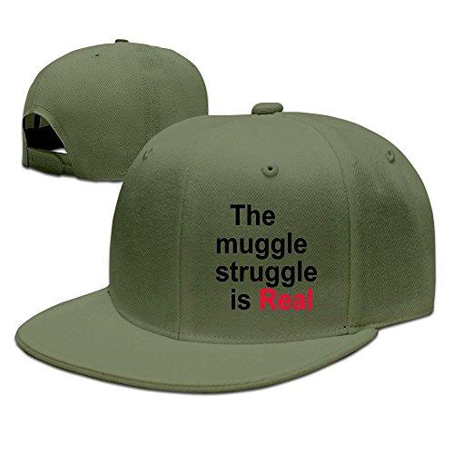 MaNeg The Muggle Struggle Unisex Fashion Cool Adjustable Snapback Baseball Cap Hat One Size