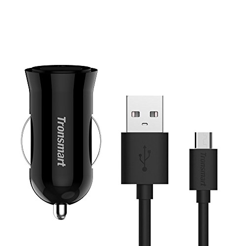 Slim 18W Car Charger works with Vertu Signature Touch (2015) Turbo Quick Charge 2.0 + VoltIQ and 1M/3.3Ft MicroUSB! [UL Certified]
