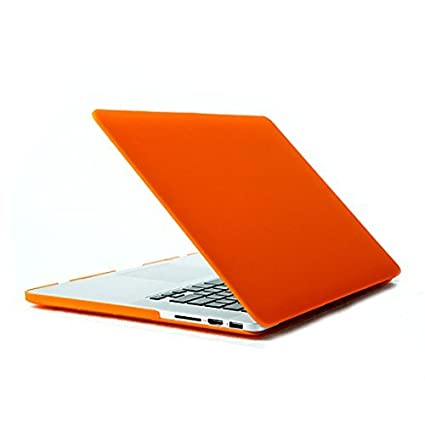eDealMax Muestra de plástico Duro caso de Shell Cover Orange Para el MacBook Pro DE 15