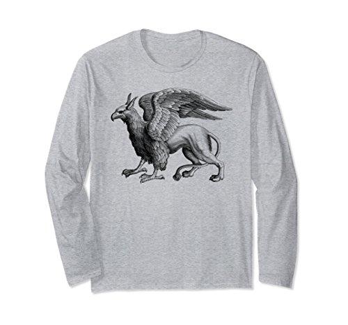 - Unisex Griffin Legendary Pride, Mythical Welsh, Griffin T-Shirt Medium Heather Grey