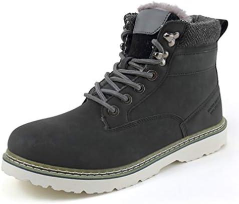 ブーツ メンズ ブラック 厚底 ハイカット 韓国風 レースアップシューズ 防滑 マーティンブーツ 冬用 男性用 ワークブーツ 作業靴 ショートブーツ 安全靴 暖かい 綿靴 雪靴 アウトドア ビジネス 大きいサイズ