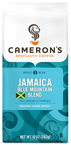 Cameron's Coffee Roasted Whole Bean Coffee, Jamaica Blue Mountain Blend, 10 Ounce ()