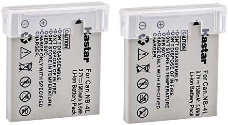 Kastar NB-4L Battery (2-Pack) for Canon PowerShot SD40, SD30, SD200, SD300, SD400, SD430, SD450, SD600, SD630, SD750, SD780, SD940, SD960, SD1000, ...