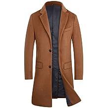 APTRO Men's Trench Wool Coat Long Gentleman Business Black Top Coat