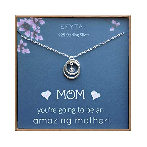 Sterling Silver Pregnancy Necklace for Expecting New Mom