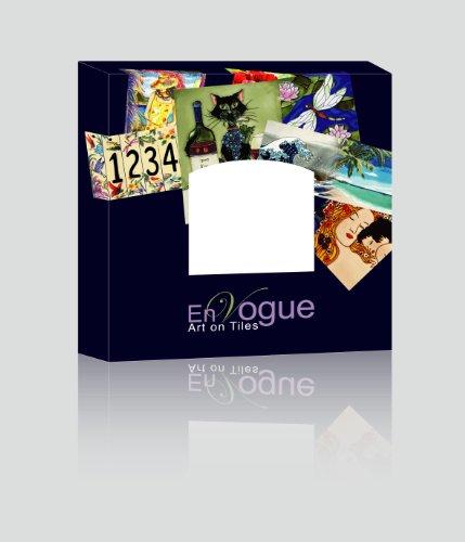 """Dragonfly - Decorative Ceramic Art Tile - 8""""x8"""" En Vogue"""