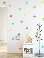 Murwall Polka Dots Wall Decal Watercolor...