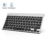 ipad mini keyboard jelly - Rechargeable Bluetooth Keyboard, Jelly Comb Ultra Slim Compact Wireless Bluetooth Keyboard for iPad, iPhone, Android Tablets, Windows, iOS, Mac OS