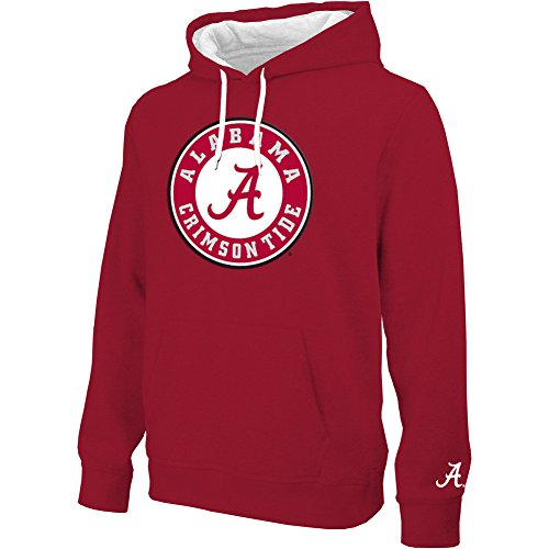 Alabama Crimson Tide Twill Hoodie Sweatshirt Icon - XL (Alabama Crimson Tide Applique)
