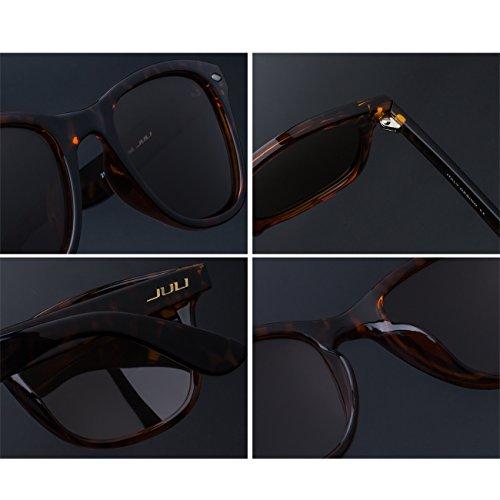 Wayfarer de sol Vintage Estilo 2140 Original Mujer Polarizadas Marrón Leopardo Gafas Hombre JULI E0w5AA