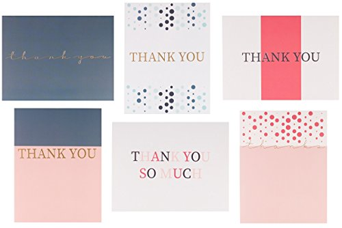 30 Letterpress Thank You Cards with Envelopes and Sticker Seals (4.25 x 5.5 inches)- for Bridal Shower, Weddings, Baby Shower, Graduation, Anniversary, Business and Professional use. Blank Inside! - Letterpress Printed Card