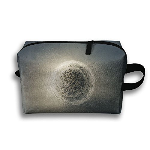 - Fantasy Ball On Ground Cosmetic Bags Makeup Organizer Bag Pouch Zipper Purse Handbag Clutch Bag