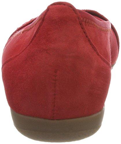 Rot Geschlossene Gabor Casual Ballerinas Rosso Damen IwxBxETf