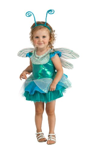 [Rubie's Costume Deluxe Dragonfly Tutu Costume, Aqua, Toddler] (Fly Costumes)