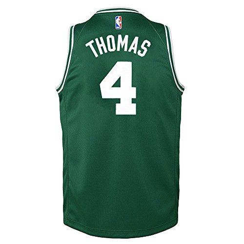 (Isiah Thomas Boston Celtics NBA Nike Youth Green Road Swingman Jersey (Youth Large 14-16))