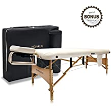 "Dr.lomilomi 30"" Medium-size Portable Massage Table 004 Spa Bed with Towel hanger & Oil pouch"