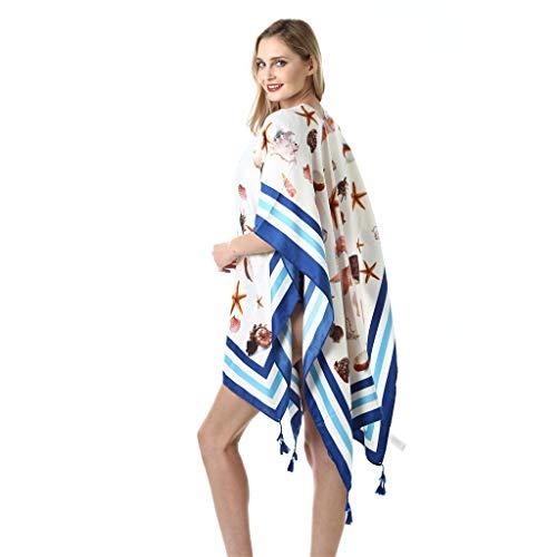 Fashion Wild Seaside Shawl for Women Colorful Towel Blanket Travel ()