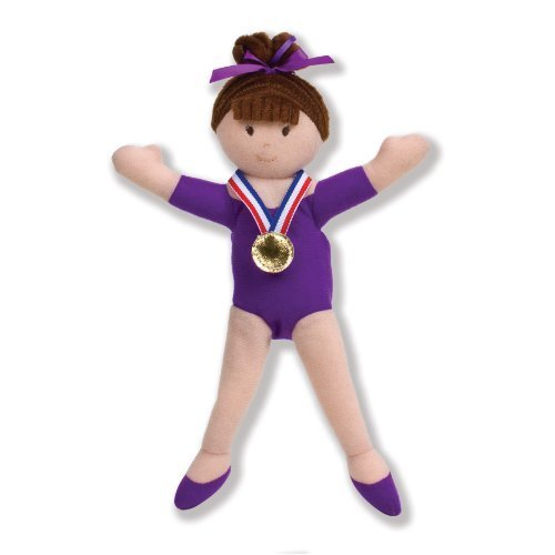 North American Bear Company Girls on The Move Gymnast Brunette Finger Puppet by North American Bear