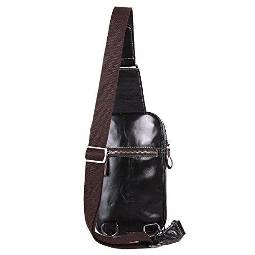 oscuro Leathario capa marrón trabajo o primera Oscuro2 diario mochila de para hombres piel color Marrón cuero pecho con bolso cuero La para rZqvrS