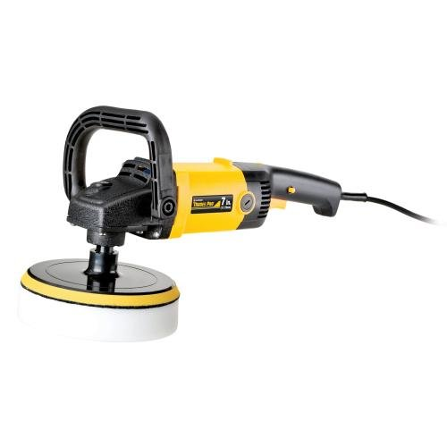 Variable speed polisher on white background.