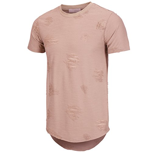 kliegou-mens-hipster-hip-hop-ripped-round-hemline-hole-t-shirt1705-large-pink