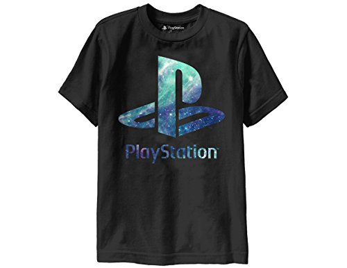 ripple-junction-playstation-logo-with-blue-space-fill-youth-t-shirt-small-black
