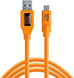 TetherPro USB 3.0 to USB-C (High-Visibility Orange)