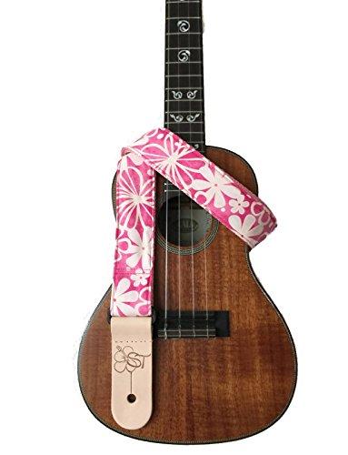 sherrins-threads-15-hawaiian-print-ukulele-strap-pink-hibiscus