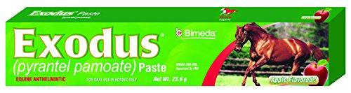 Bimeda EXODUS Equine Deworm Paste for Horses, Pyrantel Pamoate, 23.6gm, Apple Flavor