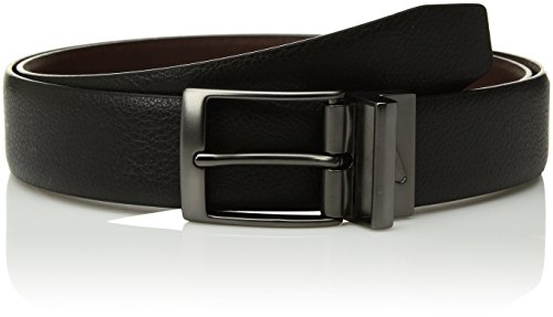 Nike Men's Pebble Feather Edge Reversible Belt, Black/Brown, 34 - Nike Reversible Belt Accessories