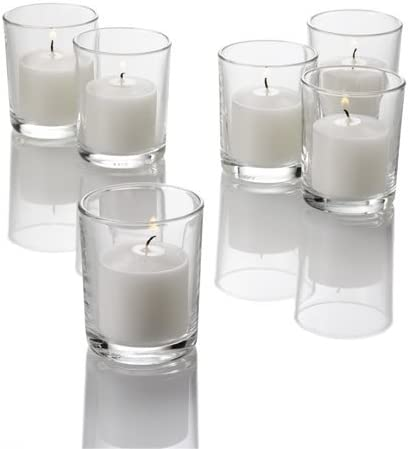 Amazon Com Eastland Set Of 72 Premium Clear Glass Votive Candle Holders 2 5 X 2 Home Kitchen