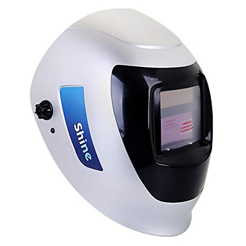 EULANGDE Auto Darkening Welding Helmet with ClearLight Lens,with True color Technology (Silver/Black)