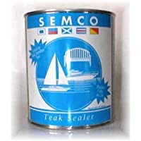 Semco Teak Sealer- Waterproofing Wood Sealant Protector (Pint, Cleartone) by Semco