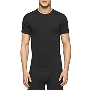 Calvin Klein Men's Undershirts Cotton Classics 3 Pack Crew Neck Tshirts,Black,XX-Large