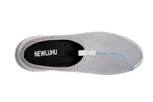 NEWLUHU - Zapatillas de estar por casa de Material Sintético para hombre gris