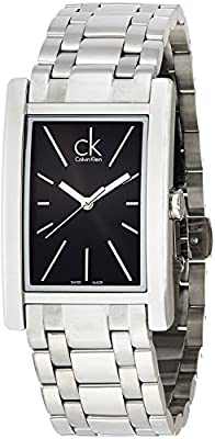 Calvin Klein K4P21141 Refine Stainless Steel Mens Watch - Black Dial