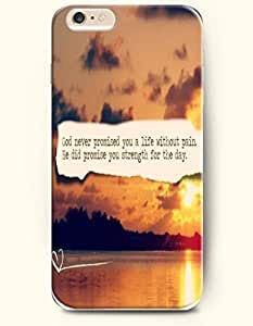 iPhone Case,OOFIT iPhone 6 (4.7) Hard Case **NEW** Case with the Design of god never promised you a life without pain he did promise you strength for the day - Case for Apple iPhone iPhone 6 (4.7) (2014) Verizon, AT&T Sprint, T-mobile