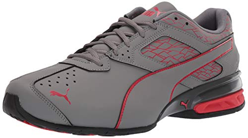 PUMA Men's Tazon 6 Fracture FM Sneaker quiet shade-high risk red 11 M US (Best Street Soccer Shoes)