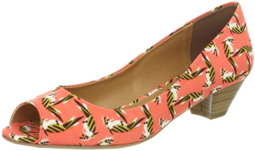 CL by Chinese Laundry Womens Home Run Peep Toe Pump Coral Parrots kKebd