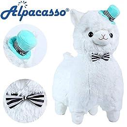 Alpacasso - Top Hat Alpaca Plush | White - 17 Inch 3