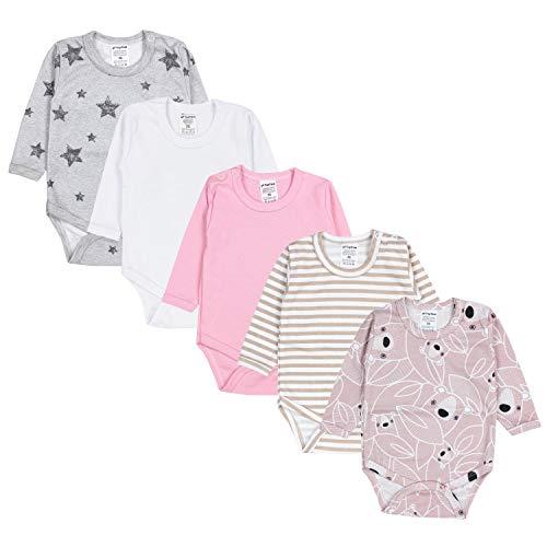 TupTam Baby Meisjes Rompertjes met Lange Mouwen 5-Pack