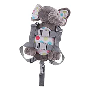 Baoblaze Cute Baby Safety Harness Backpack Toddler Anti-Lost Child Bag - Elephant, as Described
