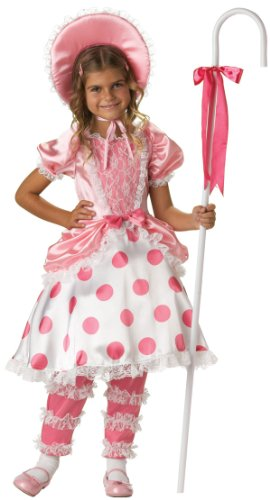 Peep Girls Costumes Bo Deluxe (Little Bo Peep Deluxe Child Costume Size)