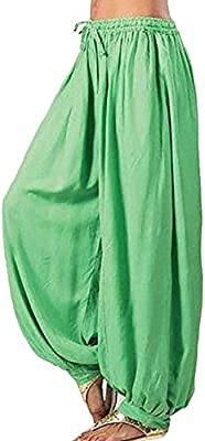 Syfinee Women Casual Baggy Boho Gypsy Yoga Aladdin Harem ...