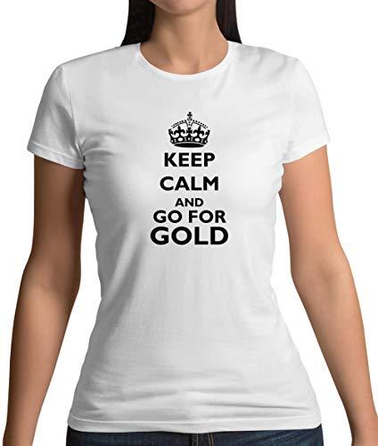 Dressdown Keep Calm and go for Gold - Womens T-Shirt - White - XXL from Dressdown