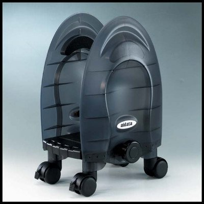 Aidata CPU01MG Deluxe Mobile CPU Stand, Graphite, Width Adjustable from 6.5'' to 9.5'', Four Swivel Casters, 2 Built-in Brakes