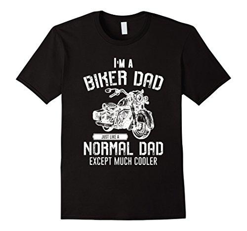 Mens I'm a Biker Dad Motorcycle Rider T-Shirt 3XL Black